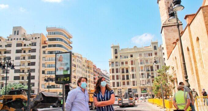 La peatonalización de las Plazas del Ayuntamiento y de San Agustín, lista en agosto